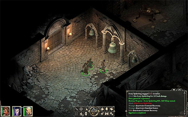 Reach the chamber with three bells - Side quests in Gilded Vale - Gilded Vale - Pillars of Eternity Game Guide & Walkthrough