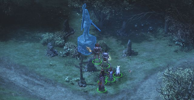 You will find the statue of Magran at the big intersection in the center of the location. - Iron and Flame - side quest - Stalwart - Pillars of Eternity Game Guide & Walkthrough