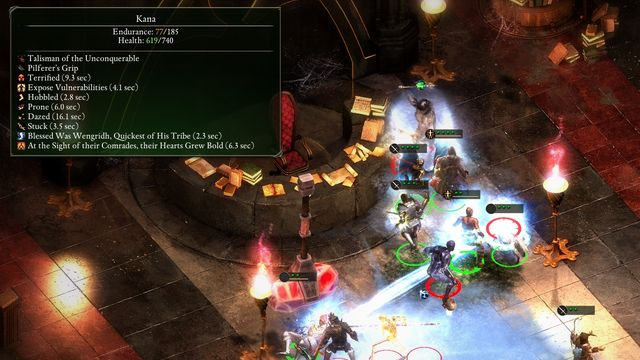 Concelhaut applies a huge amount of negative effects on your team. You should protect your party from that accordingly. - Siege of Cragholdt - side quest - Starting The Adventure - Pillars of Eternity Game Guide & Walkthrough
