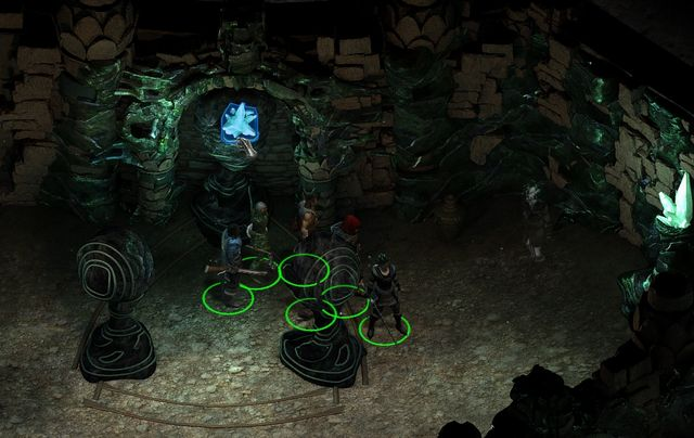 From the small altar, collect the Gleaming adra fragment. - Side quests in Endless Paths of Od Nua - Endless Paths of Od Nua - Pillars of Eternity Game Guide & Walkthrough