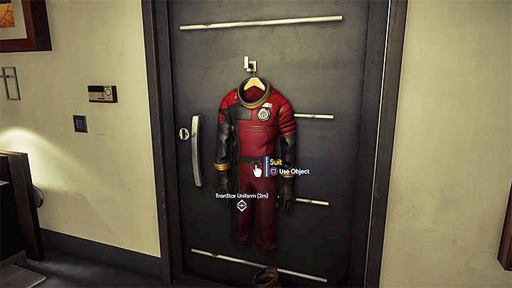 Take the suit off the hanger. - First Day on the Job | Main Story - Main Story - Walkthrough - Prey Game Guide