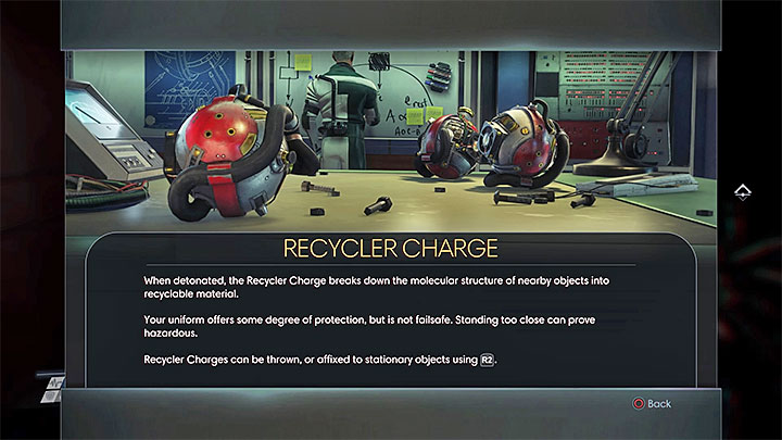 Recycler Charges can be found during your exploration of Talos I Lobby and later in the game they become more common - How to get more crafting materials? | Gameplay basics - Gameplay basics - Prey Game Guide