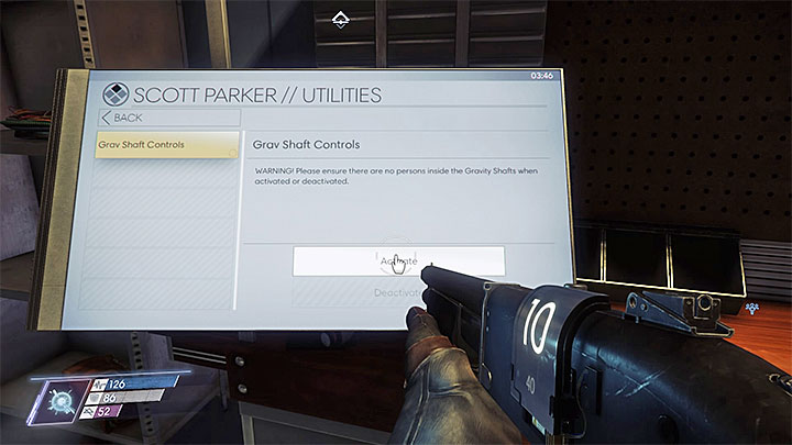 Use the access card on the locked door found in the northern part of level one (screenshot 1) - Repo Man | Main Story - Main Story - Walkthrough - Prey Game Guide