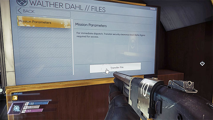 Download the mission parameters to learn the location of the tech officer - Repo Man | Main Story - Main Story - Walkthrough - Prey Game Guide