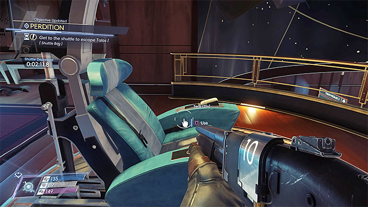 Your choice - either see the end by sitting on the captains seat or make your way to the shuttle - Perdition | Main Story - Main Story - Walkthrough - Prey Game Guide