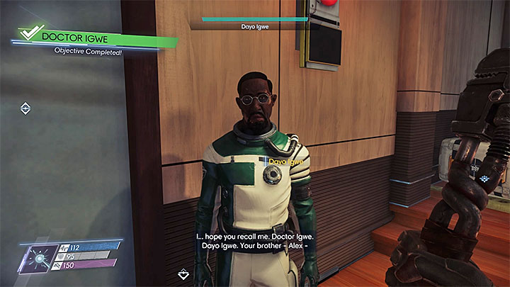 Find Igwe on the level 2 of the Cargo Bay - Dayo Igwe; Mikhaila Ilyushin | Side Quests - Side Quests - Prey Game Guide