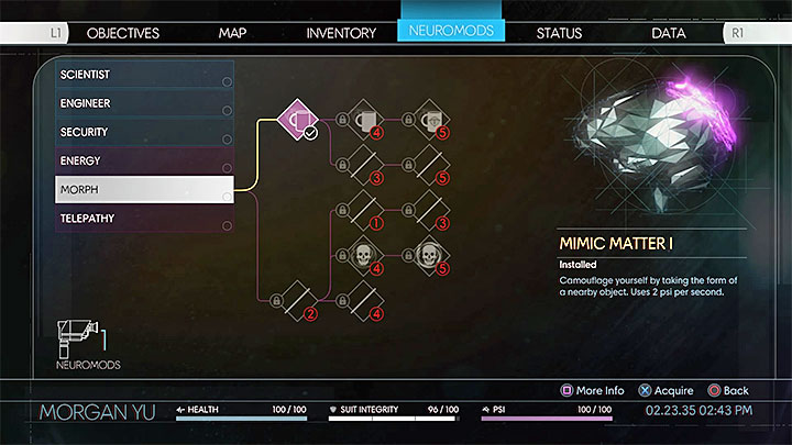 This section contains a detailed walkthrough for Mimesis, one of the achievements found in Prey - Mimesis | Trophies and achievements - Achievements and trophies - Prey Game Guide