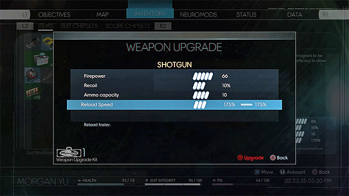 A fully upgraded Shotgun - Cold Dead Hands | Trophies and achievements - Achievements and trophies - Prey Game Guide