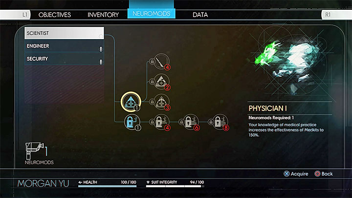 Consider spending neuromods on medical and strengthening abilities. - Stamina, Health bar, and Armor - Combat - Prey Game Guide