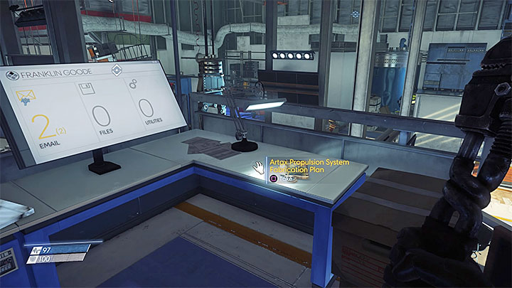 This plan can be found in the north-west corner of Machine Shop which is located in Hardware Labs - Plans - Secrets and important items - Prey Game Guide