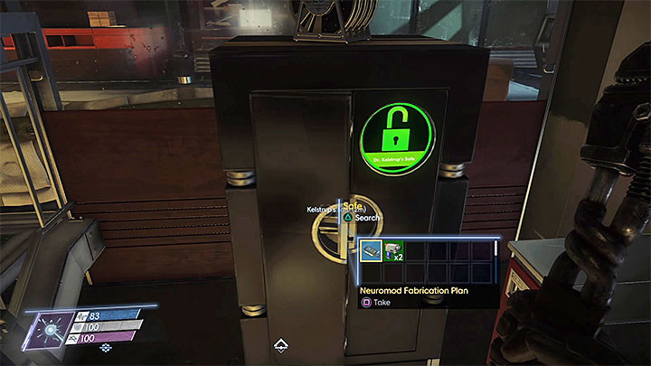 This plan can be found in Kelstrups office neighboring the atrium - Plans - Secrets and important items - Prey Game Guide