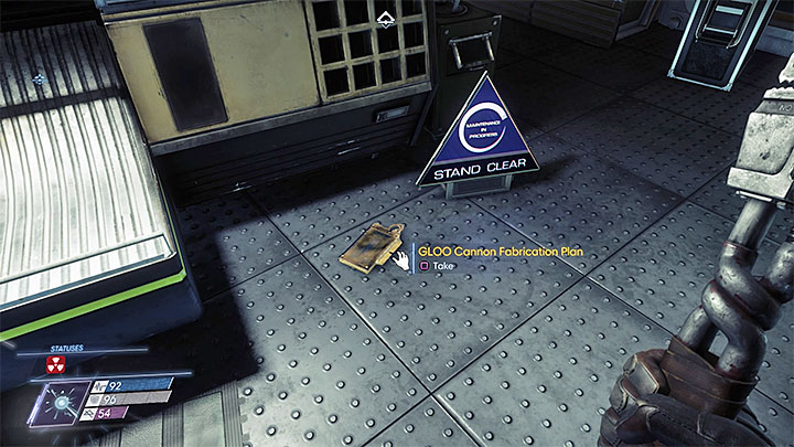 The plan can be found in the Fuel Storage on the GUTS Engineering Level B - Plans - Secrets and important items - Prey Game Guide