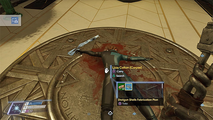This plan can be found at Lizzy Coltons corpse shown in the above screenshot - Plans - Secrets and important items - Prey Game Guide