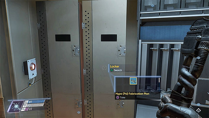 This plan can be found in the security room located near the stairs leading to the Crew Quarters - Plans - Secrets and important items - Prey Game Guide
