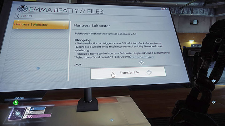 This plan can be downloaded from Emmy Beattys computer located in the Fitness Center, in the northern part of Level 2 - Plans - Secrets and important items - Prey Game Guide