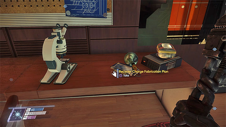 This plan can be found in Jorgen Thorsteins Cabin in Crew Quarters B - Plans - Secrets and important items - Prey Game Guide