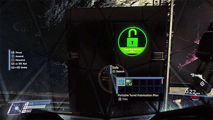 The plan is in the safe that is inside a destroyed Security Station and is guarded by a Weaver - Plans - Secrets and important items - Prey Game Guide