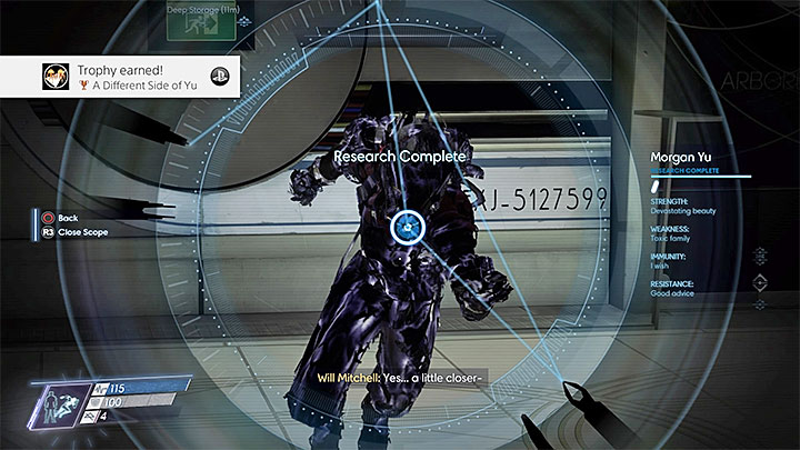 Use Phantom Shift which creates your duplicate that appears behind your back - A Different Side of You | Achievements and trophies - Achievements and trophies - Prey Game Guide