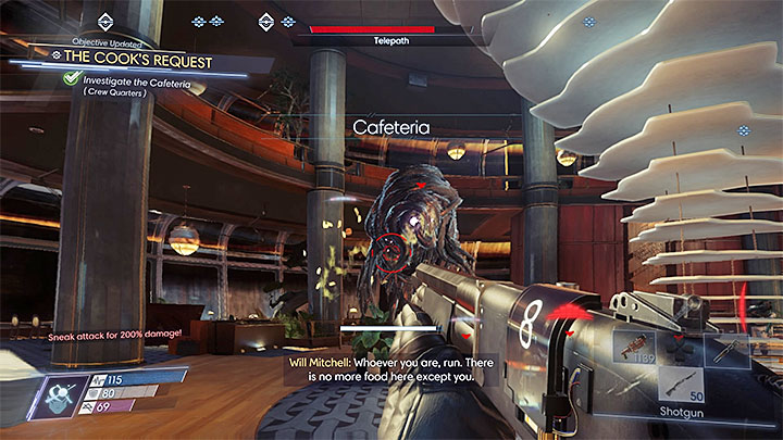 Prepare a nullwave-transmitter trap in a tactically convenient place and attack the telepath - Crew Quarters | Side Quests - Side Quests - Prey Game Guide