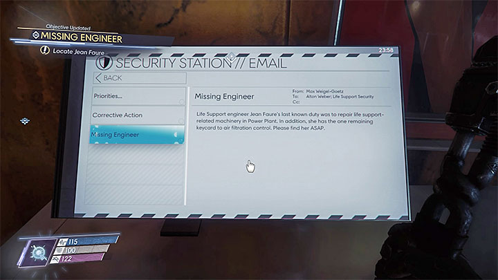This mission can be unlocked after reaching the security station located in the western part of Life Support, near the passage to Talos I Lobby - Life Support | Side Quests - Side Quests - Prey Game Guide