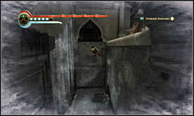 Freeze time, run across the water and as you're to jump, let go off the freeze button so that the Prince can get through the cascade and onto the ledge - Walkthrough - The Sewer - Walkthrough - Prince of Persia: The Forgotten Sands - Game Guide and Walkthrough
