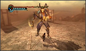The second fight with Ratash is identical as the first one for the most time - attack his calf with the Power Attack - Walkthrough - Solomons Tomb - Walkthrough - Prince of Persia: The Forgotten Sands - Game Guide and Walkthrough