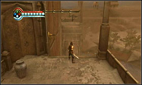 Once Ratash flies up, quickly go behind the fragment of a wall to avoid damage - Walkthrough - Solomons Tomb - Walkthrough - Prince of Persia: The Forgotten Sands - Game Guide and Walkthrough