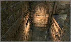 Begin climbing up the chimney-like thing while avoiding the saws - Walkthrough - Solomons Tomb - Walkthrough - Prince of Persia: The Forgotten Sands - Game Guide and Walkthrough