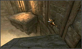 Ride down the flags and be careful, as you only have a fraction of a second to make a proper jump - Walkthrough - Solomons Tomb - Walkthrough - Prince of Persia: The Forgotten Sands - Game Guide and Walkthrough