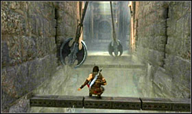 Get through the trap-filled corridor - Walkthrough - Solomons Tomb - Walkthrough - Prince of Persia: The Forgotten Sands - Game Guide and Walkthrough