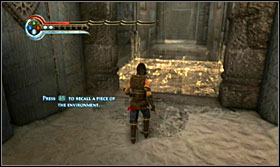 Enter the portal and Razia will grant you with the Recall power, which allows you to activate old elements of a location; however do remember that only one element at a time can be active - Walkthrough - Solomons Tomb - Walkthrough - Prince of Persia: The Forgotten Sands - Game Guide and Walkthrough