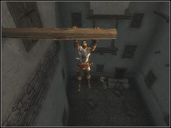 Lower to the terrace, kill the Guard and the Archer - The Streets of Babylon - Walkthrough - Prince of Persia: The Two Thrones - Game Guide and Walkthrough
