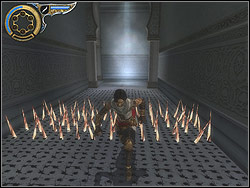 Head for the corridor right from the fountain - The Palace - Walkthrough - Prince of Persia: The Two Thrones - Game Guide and Walkthrough