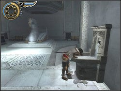 Enter the hall through the recess in the ceiling - The Palace - Walkthrough - Prince of Persia: The Two Thrones - Game Guide and Walkthrough
