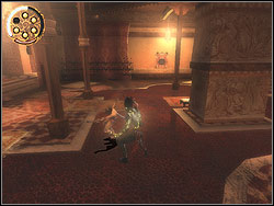 Jump over the rail of the terrace and enter to the door to the right - The Bowery - Walkthrough - Prince of Persia: The Two Thrones - Game Guide and Walkthrough