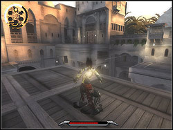 You will clash with Mahastis blade during the fight you will begin wrestle with knives - The Brothel - Walkthrough - Prince of Persia: The Two Thrones - Game Guide and Walkthrough