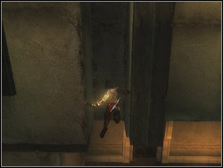 Jump down to the floor near the fountain - The Upper City - Walkthrough - Prince of Persia: The Two Thrones - Game Guide and Walkthrough