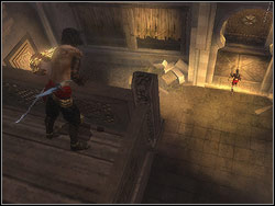 You will see Farah down below - The Upper City - Walkthrough - Prince of Persia: The Two Thrones - Game Guide and Walkthrough
