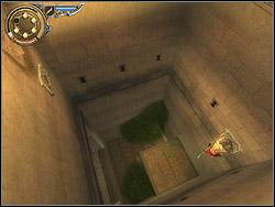 Move over the corridor right, localize the relief in the wall above you - The Upper City - Walkthrough - Prince of Persia: The Two Thrones - Game Guide and Walkthrough