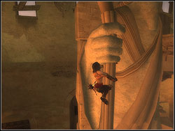 Go to the large statue at the end of the hall - The Royal Workshop - Walkthrough - Prince of Persia: The Two Thrones - Game Guide and Walkthrough