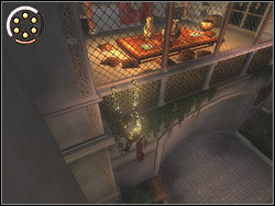 Enter the bushes straight ahead the entrance, destroy chests sticking out the wall with the net - The King's Road - Walkthrough - Prince of Persia: The Two Thrones - Game Guide and Walkthrough