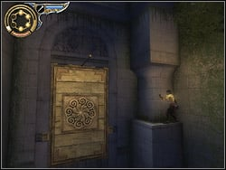 Go to the backyards end after the fight, enter the semicircular balcony - The Hanging Gardens - Walkthrough - Prince of Persia: The Two Thrones - Game Guide and Walkthrough