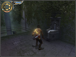 Go through the gate to the corridor among greenery, there is a fountain straight ahead the entrance - The Hanging Gardens - Walkthrough - Prince of Persia: The Two Thrones - Game Guide and Walkthrough
