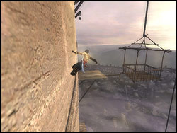 Move over to the wall near lift shaft where you pushed the stone block into - The Middle Tower - Walkthrough - Prince of Persia: The Two Thrones - Game Guide and Walkthrough