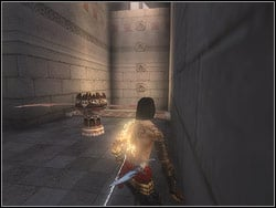 Walk ahead, and then turn with the corridor to the left - The Middle Tower - Walkthrough - Prince of Persia: The Two Thrones - Game Guide and Walkthrough