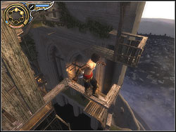 Run vertically on the wall and stick the dagger into the relief - The Middle Tower - Walkthrough - Prince of Persia: The Two Thrones - Game Guide and Walkthrough
