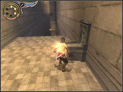 Turn to the wall you were running over recently and jump to it - The Middle Tower - Walkthrough - Prince of Persia: The Two Thrones - Game Guide and Walkthrough
