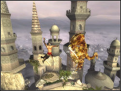 Turn to the right and jump to the next platform, the take off diagonally to the next vertical dyke - The Terrace - Walkthrough - Prince of Persia: The Two Thrones - Game Guide and Walkthrough