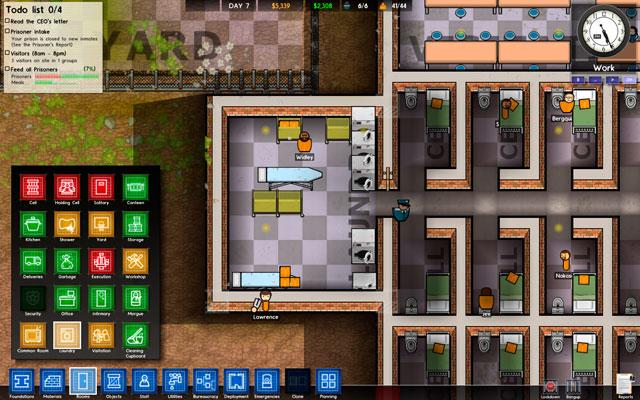 prison architect how to delete a room