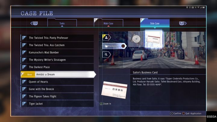 After talking to the woman, you will have to determine her location - Kamurocho Streets | Judgment side cases walkthrough - Side cases - Judgment Guide